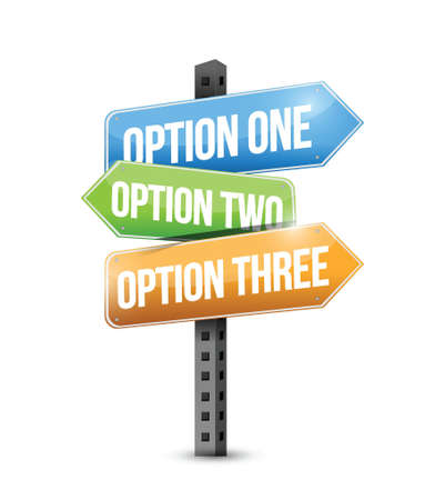 options road sign illustration design over a white background Stock Vector - 22035693