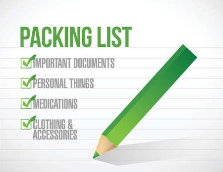 package list check mark list illustration design over a white background Illusztráció