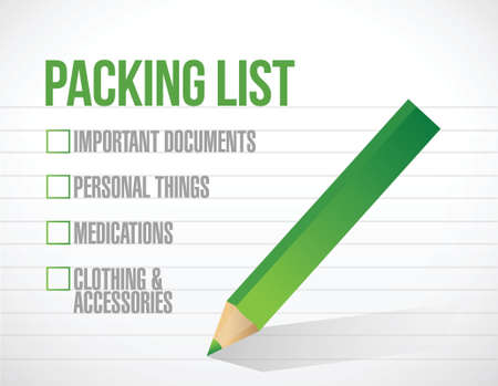 package list check mark list illustration design over a white background Illusztráció