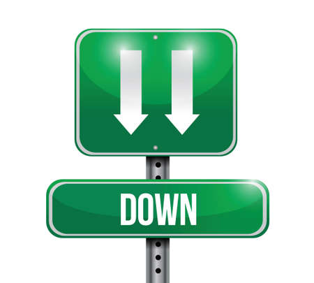 opportunity sign: down road sign illustration design over a white background