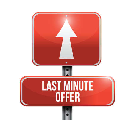 last minute offer road sign illustration design over a white background Stock Vector - 22035834
