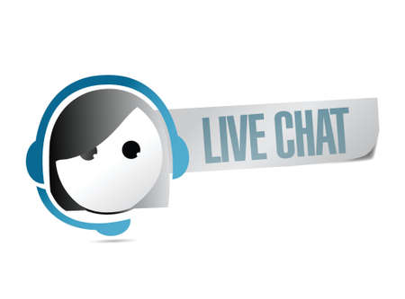 live chat illustration design over a white background Vectores