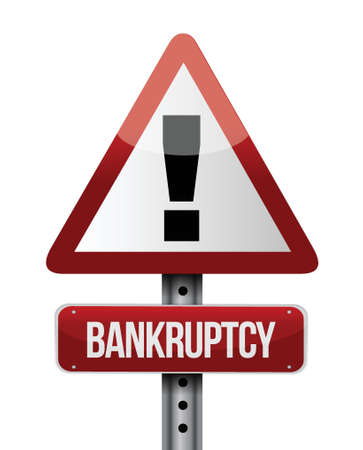 bankruptcy road sign illustration design over a white background Stock Vector - 21970042