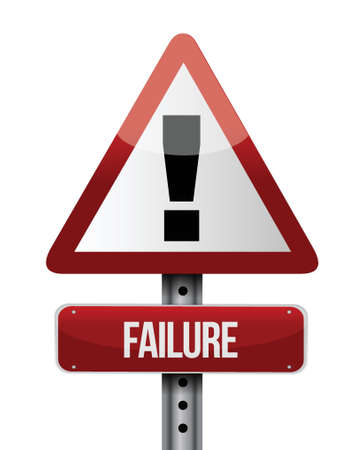 failure road sign illustration design over a white background