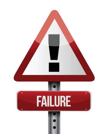 falen verkeersbord illustratie ontwerp op een witte achtergrond