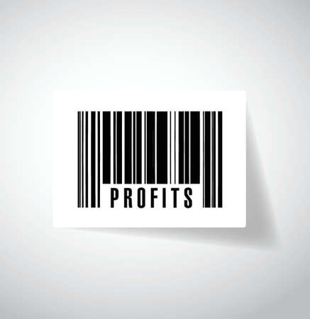 profits upc, barcode illustration design over a white background Vector
