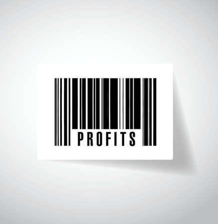 profits upc, barcode illustration design over a white background
