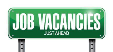 vacancies: job vacancies road sign illustration design over a white background