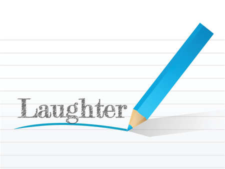 laughter written on a white piece of notebook paper Stock Vector - 22165773