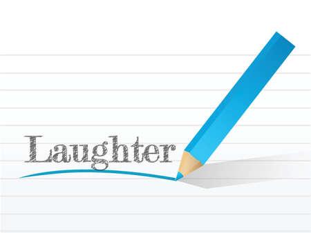 risas: risas escrito en un pedazo blanco de papel de cuaderno
