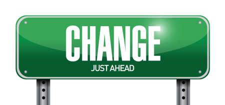 change road sign illustration design over a white background Vettoriali