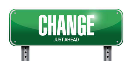 change road sign illustration design over a white background Ilustração