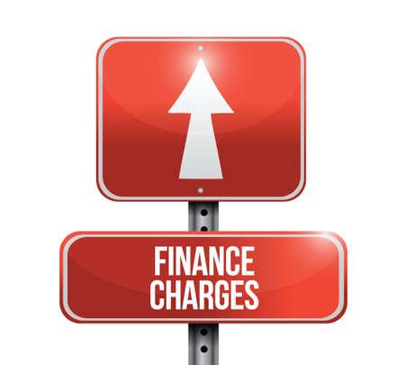finance charges road sign illustration design over a white background Illustration