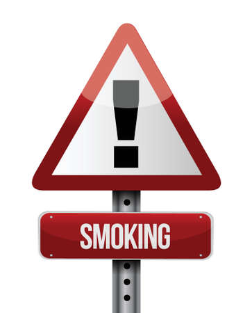 smoking road sign illustration design over a white background Stock Vector - 22165793