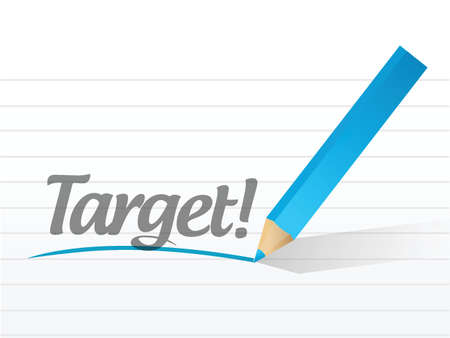 target written on a white piece of paper. illustration design