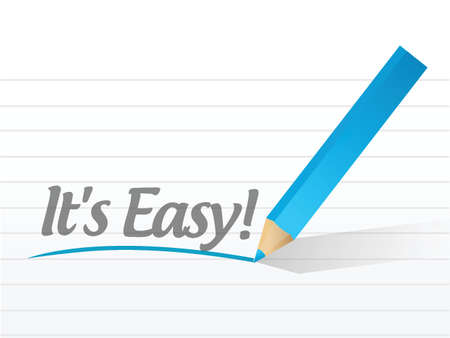 easy money: its easy written on a white paper. illustration design notepad paper Illustration