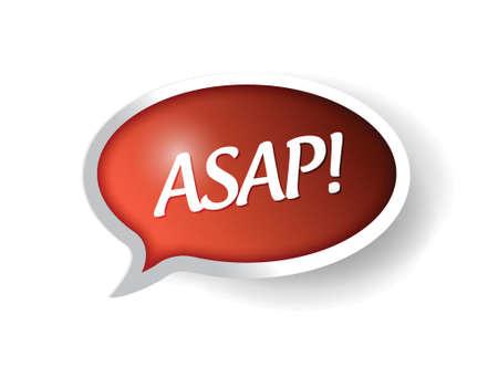 asap tekstballon illustratie ontwerp op wit Stock Illustratie