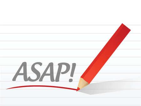 documentation: asap written on a white paper illustration design