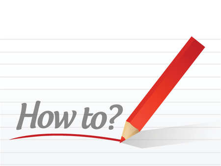 how to: How to written on a white paper illustration design