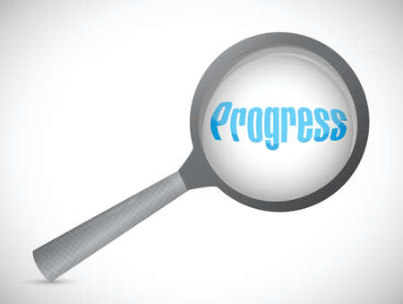 magnify progress illustration design over a white background Stock Vector - 22250898