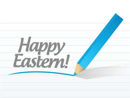 happy eastern holiday message illustration design over white