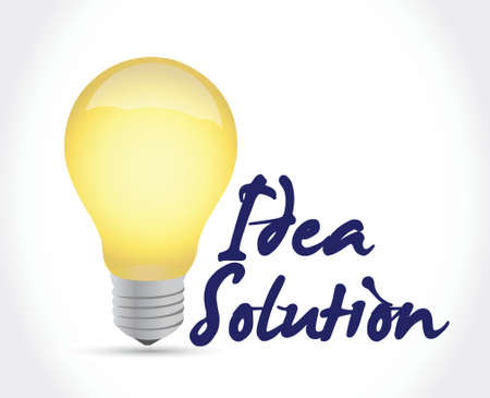 electrical wires: idea solution light bulb illustration design over a white background