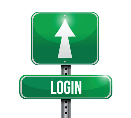 login road sign illustration design over a white background