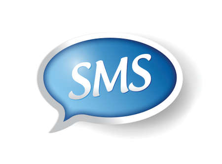 texting: sms message bubble illustration design over white