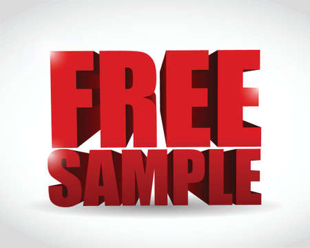 free sample text illustration design over a white background Stock Vector - 22344672