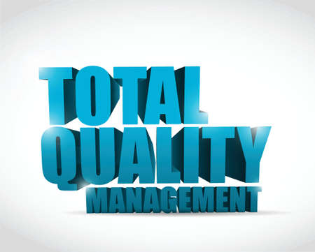 total quality management text illustration design over a white background