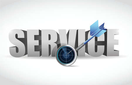 service and radar target illustration design over white
