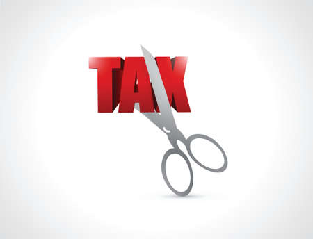 libertarian: cut taxes concept illustration design over white