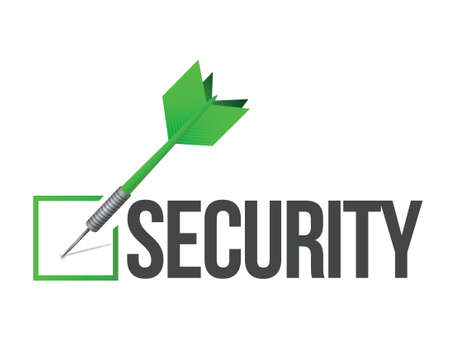 upkeep: target security illustration design over a white background