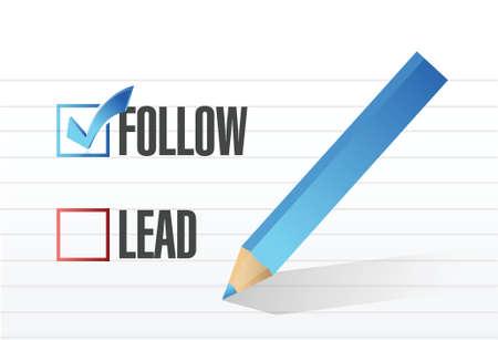 follow over lead check mark selection. illustration design Stock Vector - 22344722