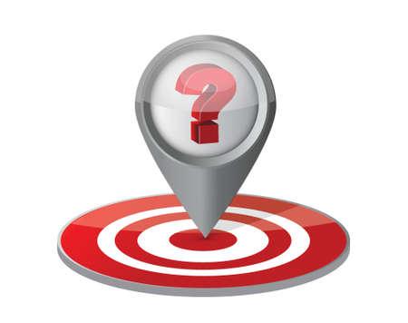 relevance: question your target concept illustration design over white Illustration