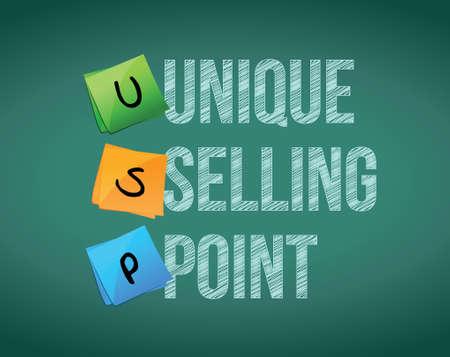 jargon: unique selling point concept illustration design over a white background