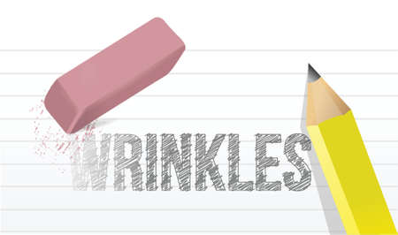 wrinkles: erase wrinkles concept illustration design over a white background
