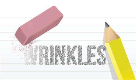 erase wrinkles concept illustration design over a white background