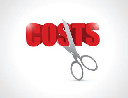 cut costs concept illustration design over white Vectores