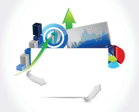 business concept blank sign illustration design  Illustration
