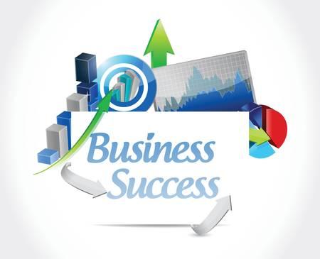 business success concept sign illustration design  Illustration
