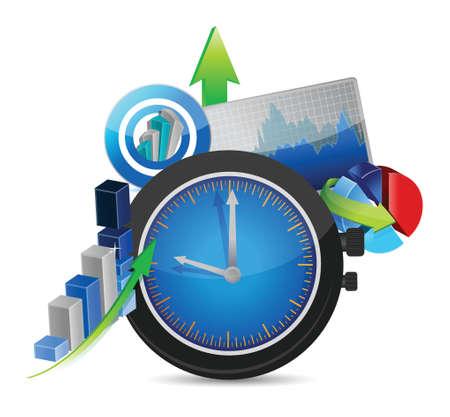 time for business concept illustration design over white Stock Vector - 22442707