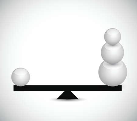 balancing spheres. illustration design Stock fotó - 22435551