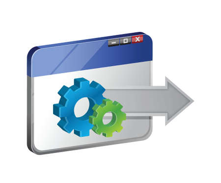 browser and industrial gear. illustration design  Vector