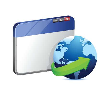 internet browser concept illustration design over white Illustration