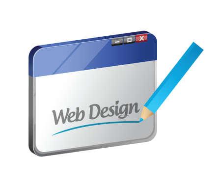 web browser: browser web design concept illustration design