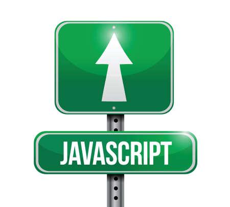 off ramp: javascript road sign illustration  Illustration
