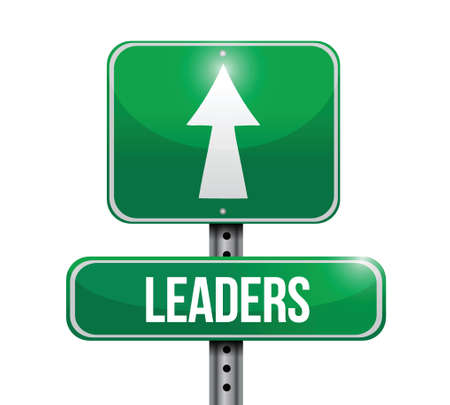 tollway: leaders road sign illustration  Illustration