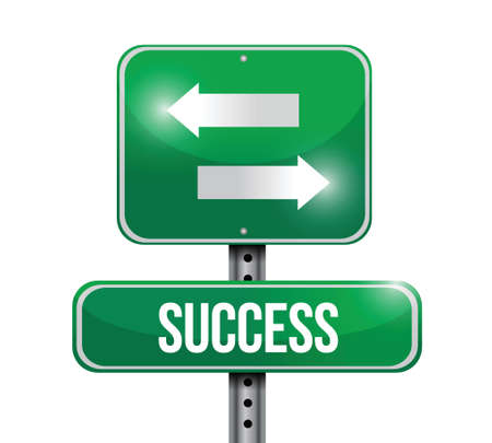 off ramp: success road sign illustration