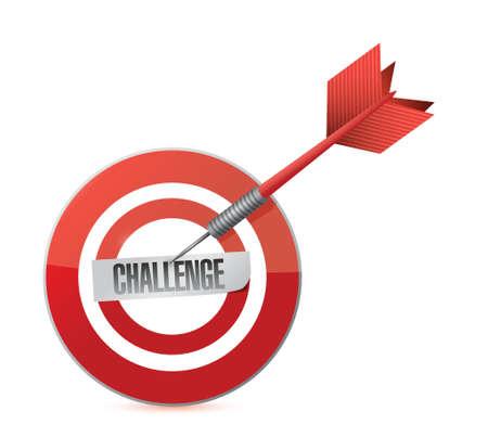 achieve goal: challenge target dart illustration design